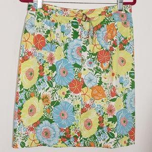 Talbots summer floral print skirt size 10